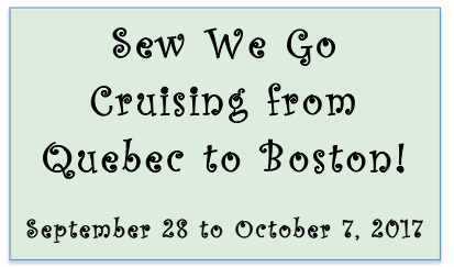quilt cruise Quebec to Boston