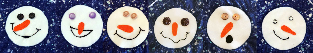 This image has an empty alt attribute; its file name is snowpeople-faces-Sandy1.jpg