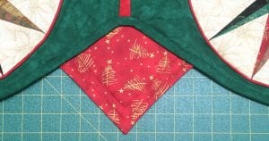 Completing a Quilt-as-You-Go Tree Skirt